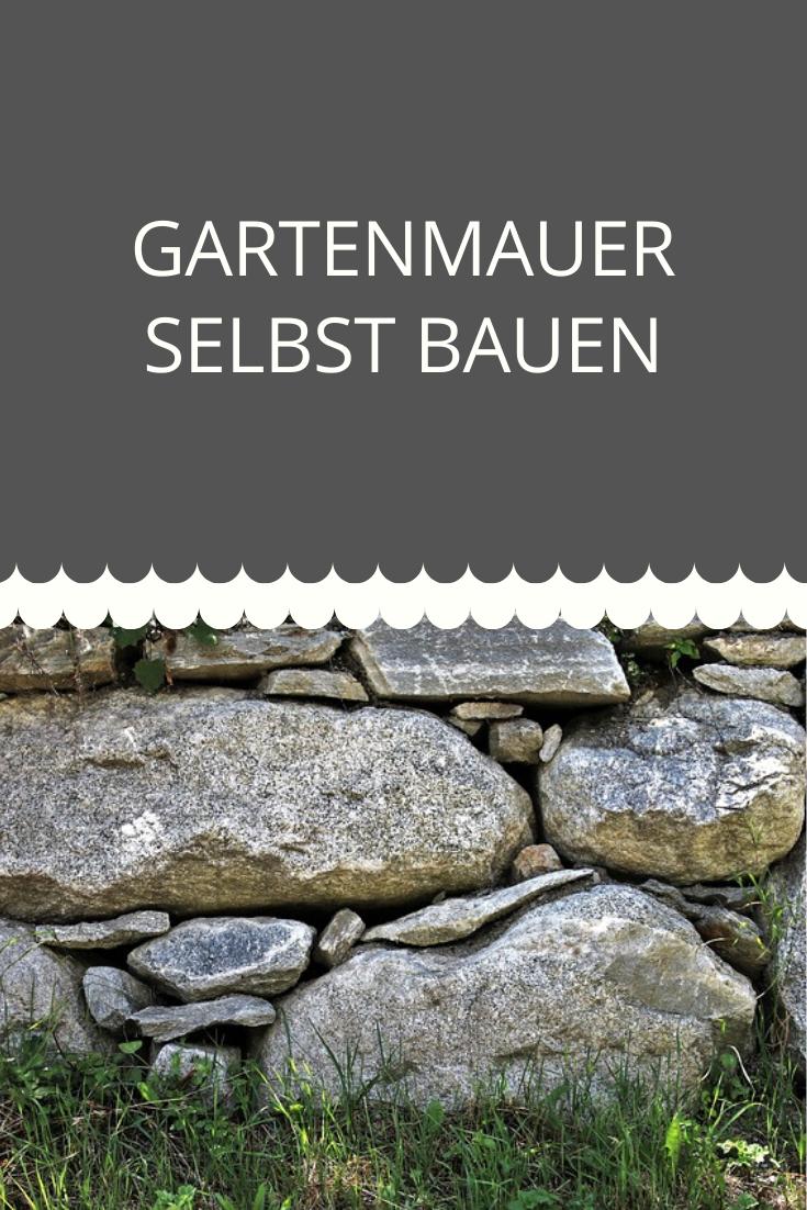 Gartenmauer selbst bauen