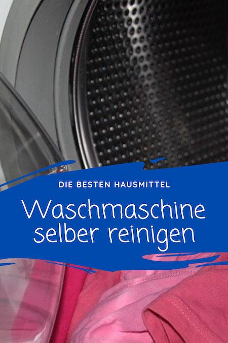Waschmaschine selber reinigen
